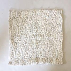 "ANTHROPOLOGIE Bobble Knit Pillow Case, Cream, 18"""